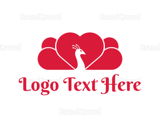 Peacock - Peacock Love logo design