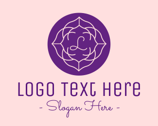 """Purple Blooming Flower Lettermark "" by JimjemR"