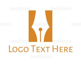 Biography - Pen Curtain  logo design
