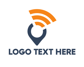 Wireless - Wifi Locator logo design