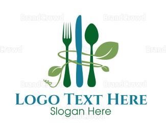 Reduce - Green Cutlery logo design