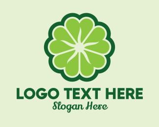 Saint Patrick - Shamrock Flower Pattern logo design