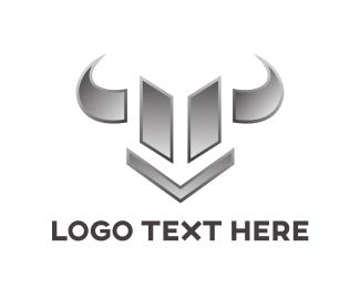 Diesel - Chrome Bull Emblem logo design