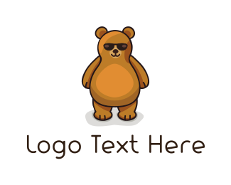 Eyeglasses - Cool Bear  logo design