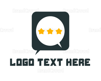 Chat - Star Chat logo design