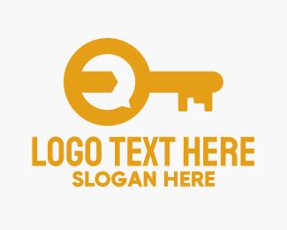 Key - Orange Locksmith Key logo design