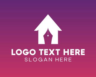 Villa - House Curtain logo design