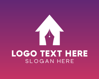 Residence - House Curtain logo design
