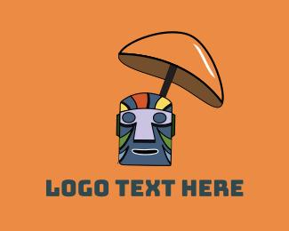 Hawaii - Tiki Drink Mask logo design