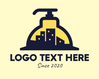 Lotion - City Building Sanitizer logo design