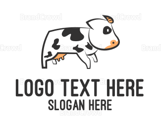 Cattle - White Cow logo design