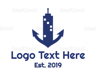 Marine - Marine Tower logo design