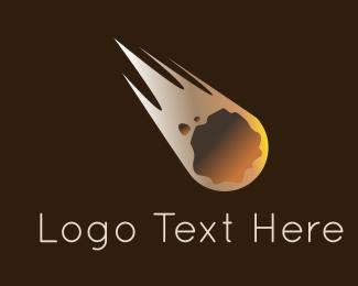 Astronomy - Meteorite Flying logo design