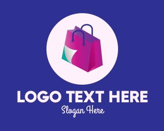 Purchase - Isometric Shopping Bag logo design