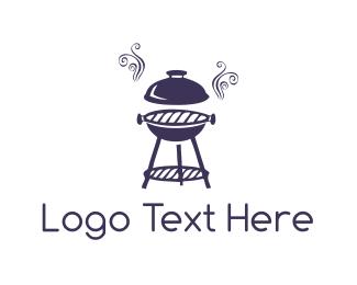 Bbq - Purple Barbeque logo design