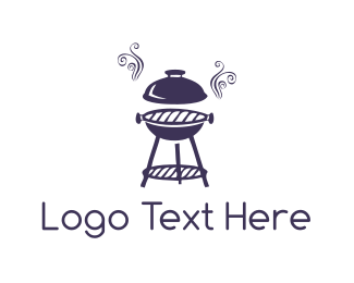 Barbeque - Purple Barbeque logo design