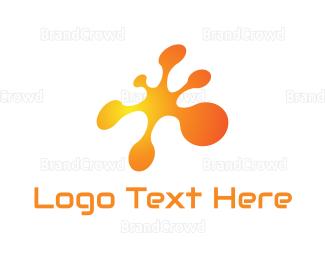 """Tech Orange Splatter"" by LogoBrainstorm"