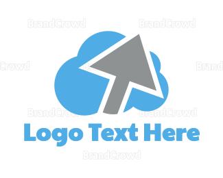 Elevate - Cloud Arrow logo design