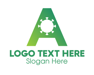 Malware - Global Virus Letter A logo design
