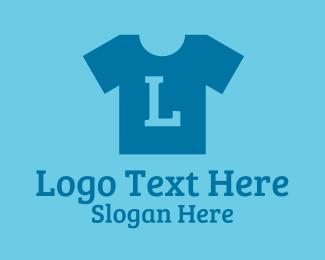 Shirt - Blue Shirt Laundry Lettermark logo design