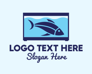 Blue Fish - Blue Fish Tank logo design