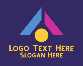Child - Triangle Child Toy Blocks logo design