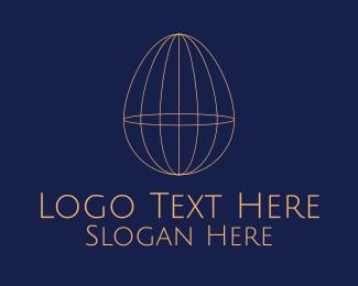 Geometric Shapes - Minimal Egg logo design