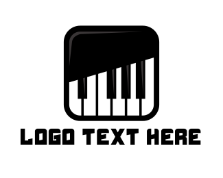 Piano Lessons - Piano Keys App logo design