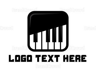 Instrument - Piano Keys App logo design