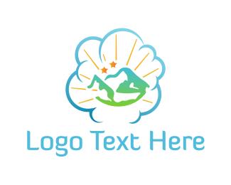 Landscape - Cloud Landscape logo design