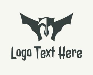 Superhero - Black Bat Mask logo design