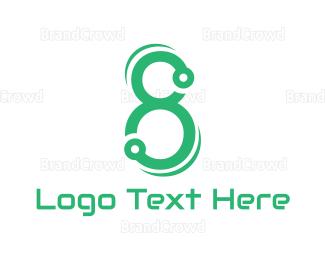 Circuit Board - Green Tech Eight logo design