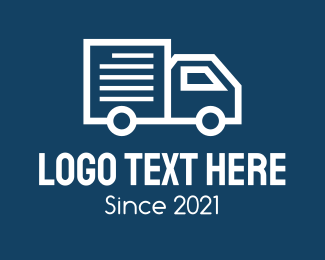 Courier - Van Courier Truck logo design