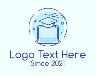 Online Learning - Online Graduation Education logo design