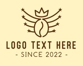 Coffee - Royal Coffee Bean logo design