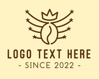 Coffee Bean - Royal Coffee Bean logo design