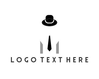 Bachelor - Hat & Tie logo design