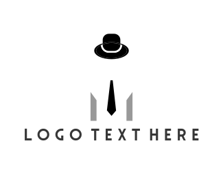 Wear - Hat & Tie logo design