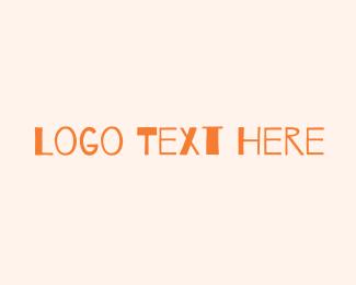 Kinder - Orange Marker Wordmark logo design