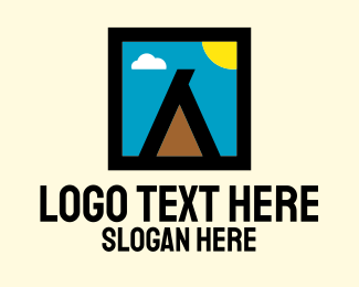 Post Stamp - Outdoor Camping Teepee Tent logo design
