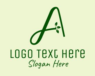 Herb - Natural Herb Letter A logo design