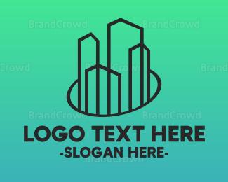 Condominium - Minimalist Builder Town logo design