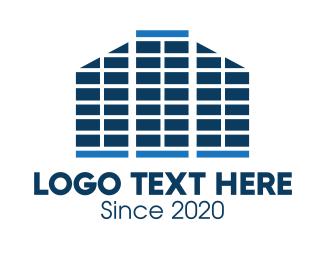 High Rise - High-Rise Building Property logo design