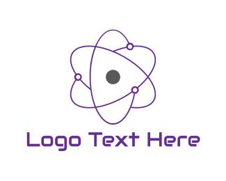 Molecule - Purple Atom logo design