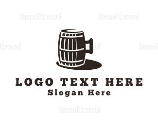 Alcohol - Beer Barrel logo design