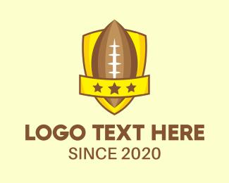 Football - American Football Team Shield logo design