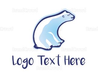 Frozen - Cute White Polar Bear logo design