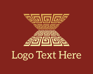 Golden - Antique Vase logo design