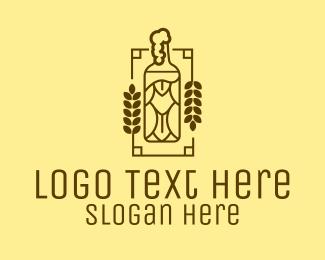 Alcohol - Craft Beer Bottle logo design