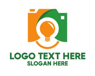 Flash - Flash Bulb Photography logo design
